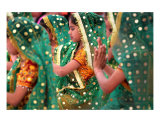 Children dancers Sri Ram orphanage Photographic Print by Shmuel Thaler