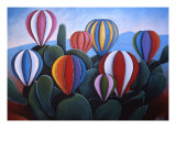 Cactus Fiesta Giclee Print by Gayle Faucette Wisbon