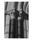 Pillars: Black And White Photographic Print by Paul Huchton