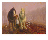 Turning The Furrow Giclee Print by Susan Westwood