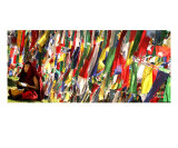 Tibetan monk under prayer flags Photographic Print by Shmuel Thaler