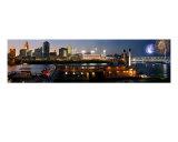 Cincinnati Riverfront Panorama Photographic Print by Anna Miller