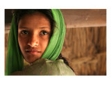 Indian village girl near Haridwar Photographic Print by Shmuel Thaler