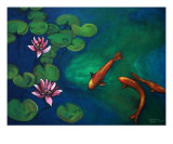 Koi Giclee Print by Todd Horne
