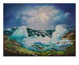 Ocean Waves Giclee Print by Irene Clarke