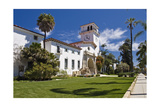 Beautiful Courthouse, Santa Barbara, California Photographic Print by George Oze
