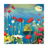 Frog And Ladybugs Giclee Print by Nancy Tillman