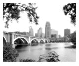 Minneapolis Skyline BW3 Photographic Print by Tommy Rey