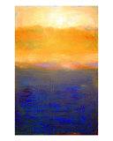 Golden Sunset On Lake Michigan Impression giclée par Michelle Calkins