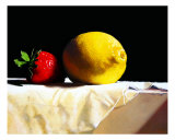 Strawberry and Lemon Photographic Print by Devan Perona