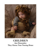 Children Choose Nursing Homes - Humor Photographic Print by James Davidson