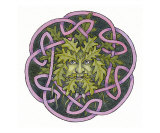 Green Man Giclee Print by Michael Davies