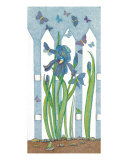 Blue Iris Reproduction proc&#233;d&#233; gicl&#233;e par Judy Newcomb