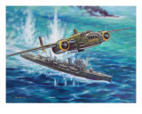 B25 Attacks Giclee Print by jack connelly