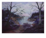 A Sunset On The Bay Giclee Print by Debra Ventimiglia