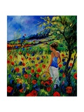 Picking Flowers Giclee Print by  Ledent