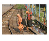 Train station, northern India Photographic Print by Shmuel Thaler