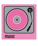 Music Pink Photographic Print by Micheline Kanzy