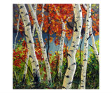 Birch And Maple Trees Giclee Print by Takeyce Walter