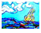 Fire On The Mountain Top Giclee Print by Robert James