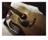 Guitar Giclee Print by Clarence Carvell