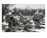 Korean War Memorial Winter Snow Photographic Print by William Luo