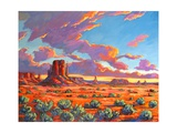 Monument Valley Sunset Pôsters por Patty Baker