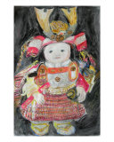 My Grand Son Wearing Armor In Boys Festival Giclee Print by Chieko Toyoda