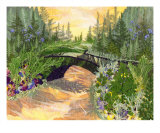 Bridge Garden - Pressed Flower Art Giclee Print by Shelley Xie
