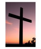 Sunset Cross 2 Photographic Print by Paul Huchton