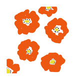 Orange Pop Flowers Fotodruck von Jan Weiss