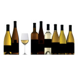 White Wine Bottles Photographic Print by Jackie Johnston