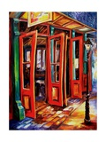 Big Red Doors In The French Quarter Reproduction procédé giclée par Diane Millsap