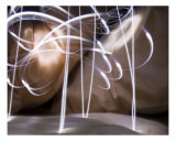 Abstract Light Painting Photographic Print by James Davidson