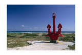 Red Anchor, Lost Seaman Memorial, Aruba Photographic Print by George Oze