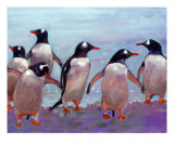 Gentoo Penguins - Antarctica Giclee Print by Ann Tuck