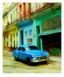 Cars - Old Cuban Car Photographic Print by Emailandthings