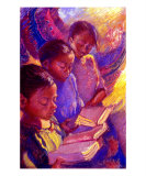 Girls Reading Giclee Print by Ellen Dreibelbis