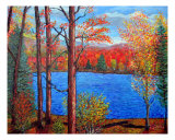 Fall In The Poconos Giclee Print by Michael Forzato