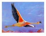 Flamingo In Flight - Chile Giclee Print by Ann Tuck