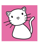 Kitty Pink Photographic Print by Micheline Kanzy