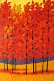 Red Tree Forest Giclee Print by Patty Baker