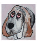 Vincent The Dog II Giclee Print by Janel Bragg
