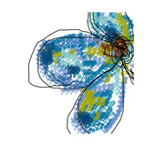 Blue Petals Fotografie-Druck von Jan Weiss