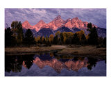 Teton Sunrise Reflection Fotografisk trykk av Philip Bobrow