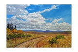 Wyoming Backroad near Vedauwoo, Wyoming Giclee Print by Patty Baker