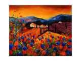 Tuscan Poppies Giclee Print by  Ledent