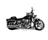 A Harley Giclee Print by Jamie Atkinson