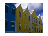 Colorful Facades, Oranjestad, Aruba Photographic Print by George Oze