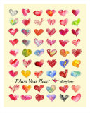 Follow Your Heart Giclee Print by Lilly Fluger